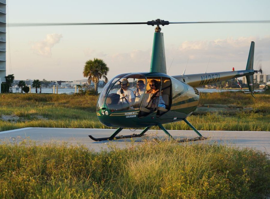 crab island helicopter tour