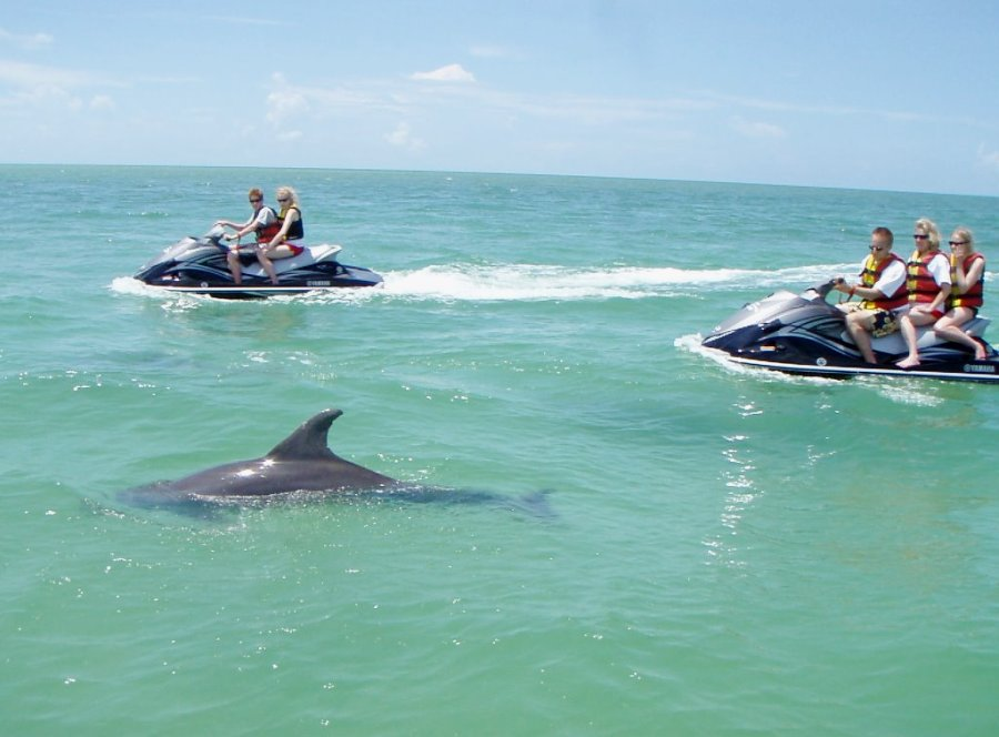 crab island waverunner tour